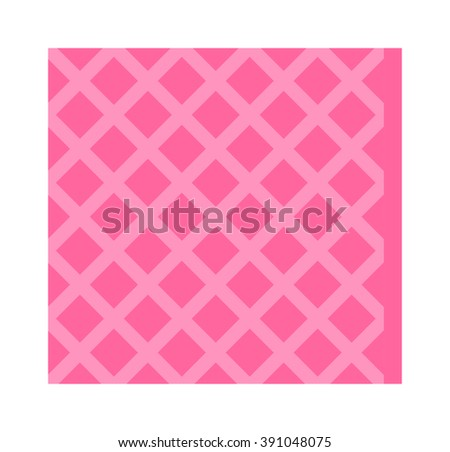Cellulose sponges cleaning rag, color cleaning rag for housekeeping cleanness. Pink cleaning rag for cleaning and cleanliness in the house flat vector illustration isolated on white.  - stock vector