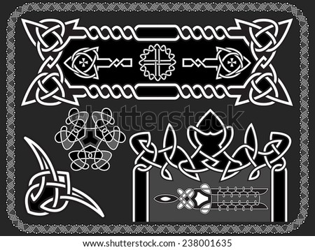 celtic an ornament for design in a vector - stock vector