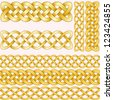 Celtic braids set with seamless patterns for brushes. - stock vector