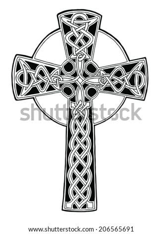 Celtic Cross Christian Irish Symbol Vector Stock Vector 206565691