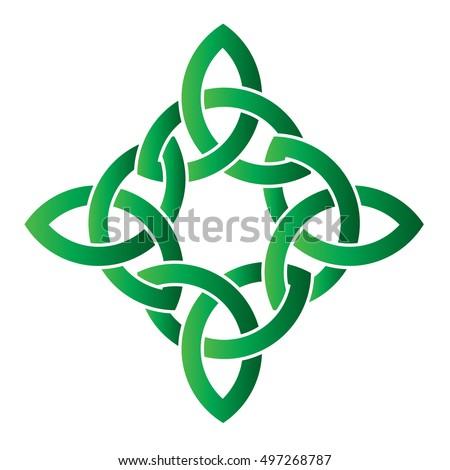 Celtic Cross Irish Celtic Knot Style Stock Vector Royalty Free