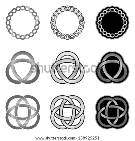 Celtic Knot Design Elements Patterns, Models and Templates - stock vector