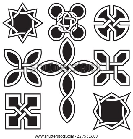Celtic Knots in Vector Editable Format - stock vector