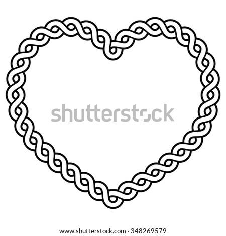Celtic pattern heart shape - love concept for St Patrick's Day, Valentines   - stock vector