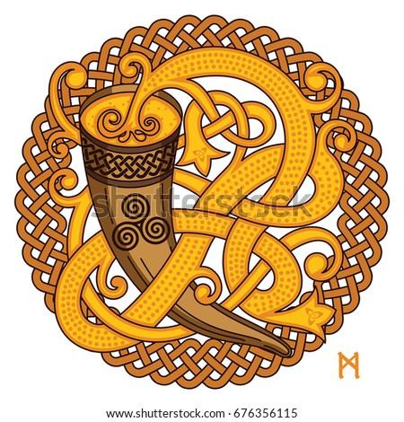 hand drawn celtic alphabet letter b royalty free stock