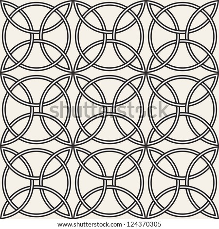 Celtic seamless pattern. Abstract vintage geometric wallpaper. Vector illustration - stock vector