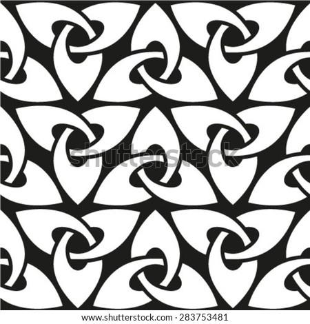 Celtic seamless pattern, abstract vintage geometric wallpaper. Vector illustration - stock vector