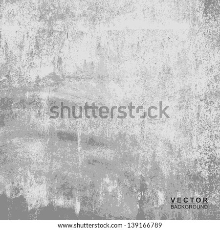 Cement wall texture with for background, Vector - stock vector
