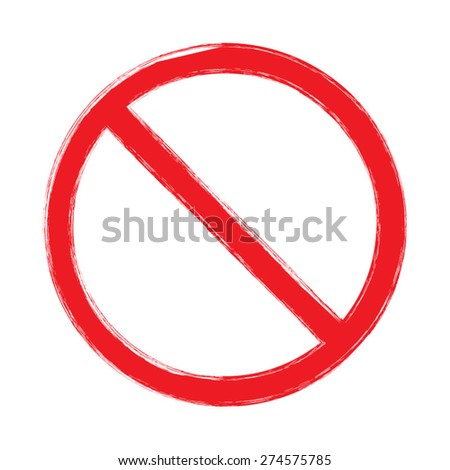 Censor sign. No sign. Red prohibition vector sign. - stock vector