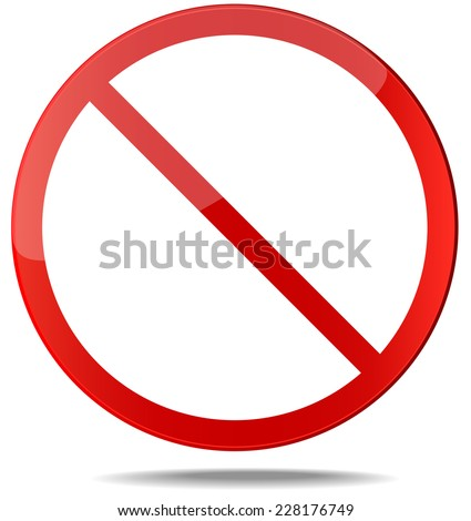 Censor sign. No sign. Red prohibition vector sign. You can simply change color and size - stock vector