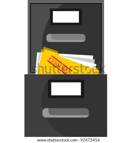 censored documents - stock vector