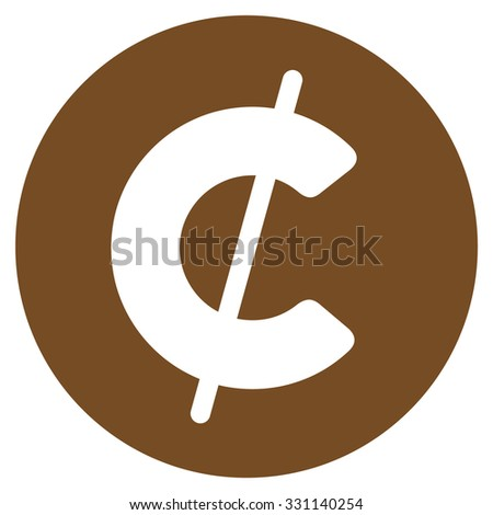 Cent Coin Vector Icon Style Flat Stock Vector Royalty Free