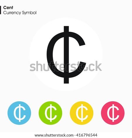 Cent Sign Icon Money Symbol Vector Illustration Stock Vector