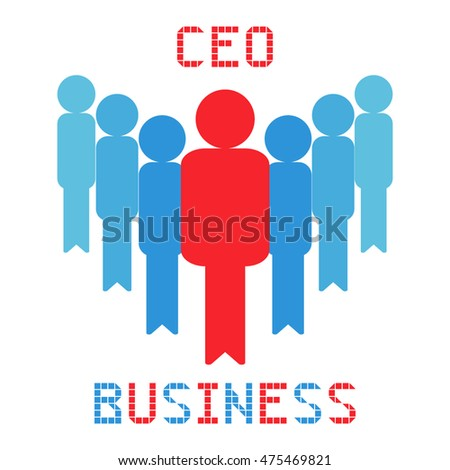 ceo business management on the white background