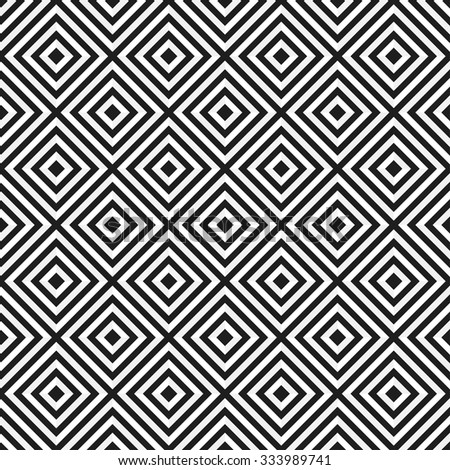 Ceramics Seamless Pattern. Zigzag background. Abstract Black and White Background. Vector Regular Texture. Grid background.