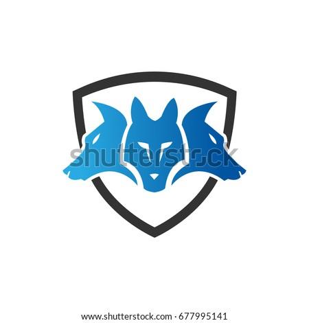 Cerberus Icon Three Head Dog Icon Stock Vector 677995141 Shutterstock