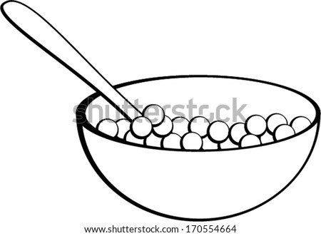 bowl of cereal coloring pages - photo#18