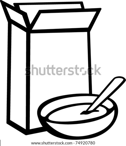 cereal box bowl stock vector 74920780 shutterstock rh shutterstock com cereal box clipart black and white blank cereal box clipart
