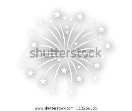 Ceremony fireworks on white background