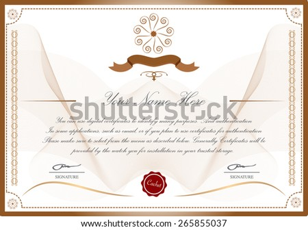 Certific Ate Template Stock Vector (Royalty Free) 265855037 ...