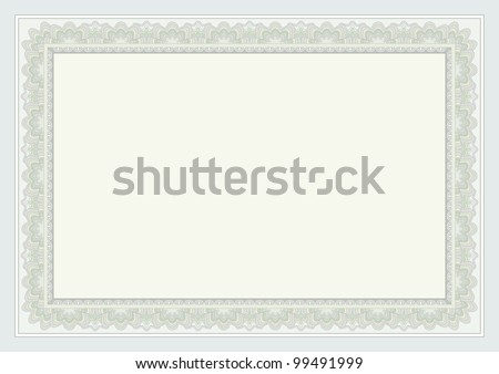certificate background - stock vector