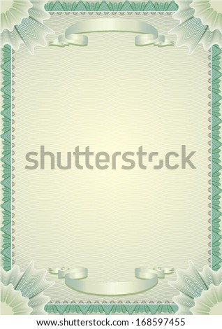 Certificate background frame - stock vector