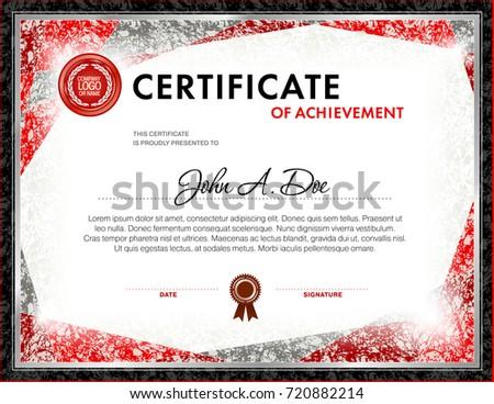 Certificate Blank Template Designed Simple Polygonal Stock Vector Hd