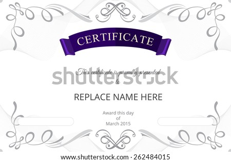 Certificate border, Certificate template. vector illustration - stock vector