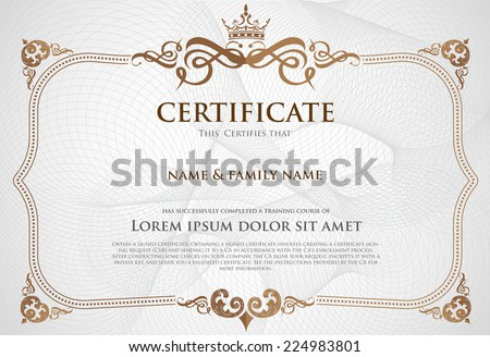 Certificate Design Template. - stock vector