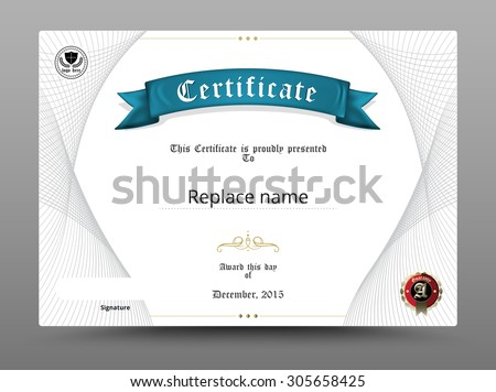 Certificate diploma border, Certificate template. Design on white background. Scale A4, A5. vector illustration. - stock vector