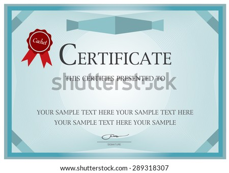 Certificate diploma completion design template background stock certificate diploma of completion design template background with guilloche pattern watermark yadclub Gallery