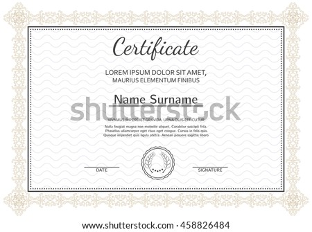 Certificate diploma completion silver design template stock vector certificate diploma of completion silver design template white background with pattern yadclub Image collections