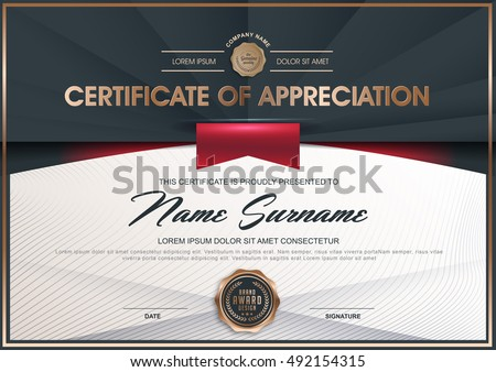 diploma certificate stock images royalty images vectors  certificate diploma of completion template luxury black and golden elegant pattern vector illustration