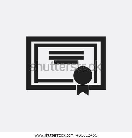 Certificate Icon, Certificate Icon Eps10, Certificate Icon Vector, Certificate Icon Eps, Certificate Icon Jpg, Certificate Icon, Certificate Icon Flat, Certificate Icon App, Certificate Icon Web - stock vector
