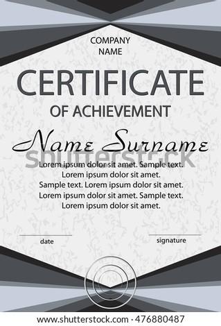 Certificate achievement diploma reward winning competition stock certificate of achievement or diploma reward winning the competition award winner vertical yelopaper Choice Image