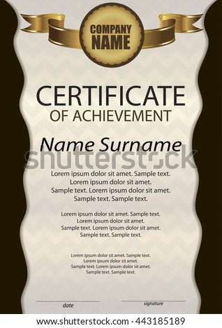 Gold certificate achievement diploma template vertical stock certificate of achievement or diploma template vertical reward award winner winning the yelopaper Choice Image