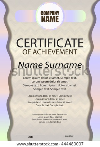 Certificate achievement diploma template vertical reward stock certificate of achievement or diploma template vertical reward award winner winning the yelopaper Images
