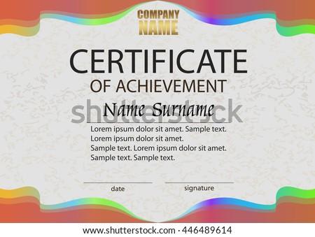 Certificate achievement reward winning competition award stock certificate of achievement reward winning the competition award winner horizontal bright color yadclub Choice Image