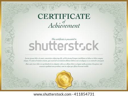Certificate Achievement Template Stock Vector   Shutterstock