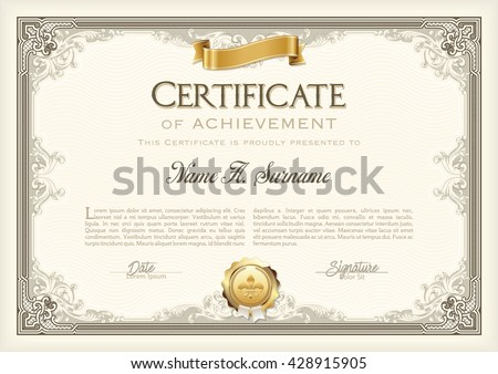 Certificate Template Stock Images, Royalty-Free Images & Vectors