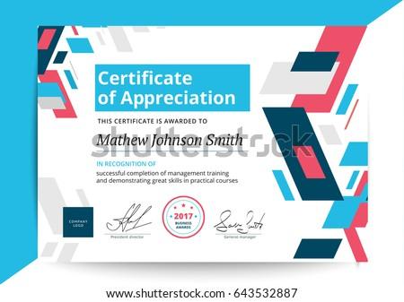 Certificate appreciation template modern design business stock certificate appreciation template modern design business stock vector hd royalty free 643532887 shutterstock yadclub Gallery