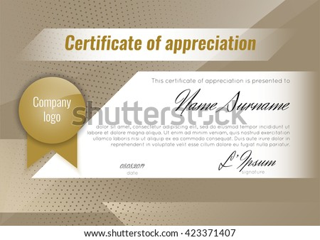 Certificate appreciation template stock vector stock vector certificate of appreciation template stock vector yelopaper Image collections