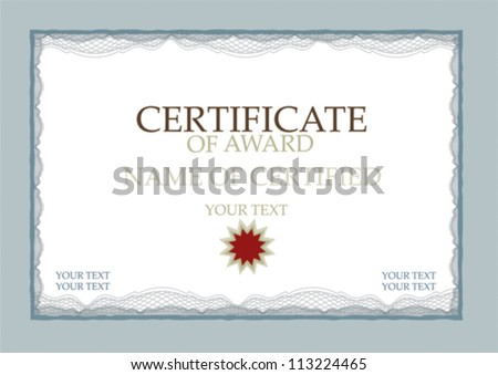 Certificate of award - stock vector