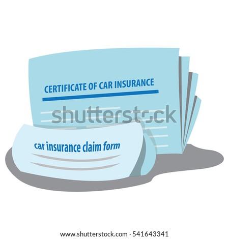 Certificate car insurance car insurance claim stock vector certificate of car insurance and car insurance claim form vector illustration yelopaper Choice Image