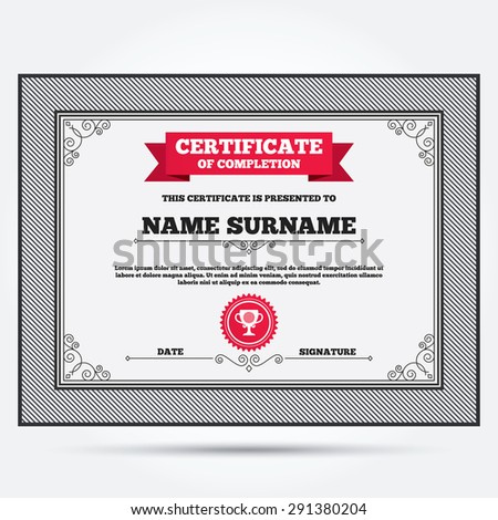 Golf winner certificate template choice image certificate design certificate completion golf ball sign icon stock vector 291380204 certificate of completion golf ball sign icon yelopaper Image collections