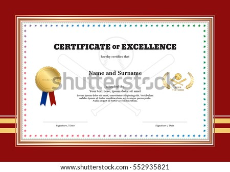 Certificate Of Excellence Stock Images RoyaltyFree Images