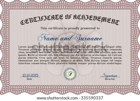 Certificate diploma template vector pattern that stock vector certificate or diploma template vector pattern that is used in currency and diplomasplex yadclub Choice Image