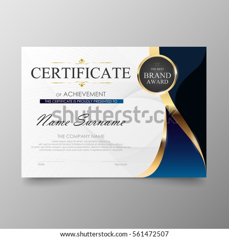 Certificate Premium Template Awards Diploma Background – Certificate Layout