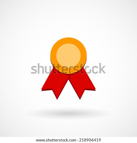 Certificate seal with ribbons flat icon. Vector illustration.