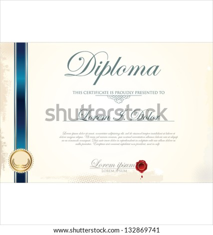 Certificate template stock vector 132869741 shutterstock certificate template yadclub Images